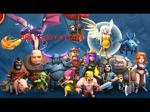 CLASH OF CLANS !! Archer Barbarian Is Best Loot Attake In Coc .......