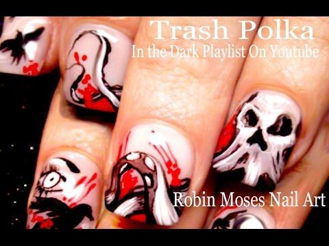 vampy polka - nail art
