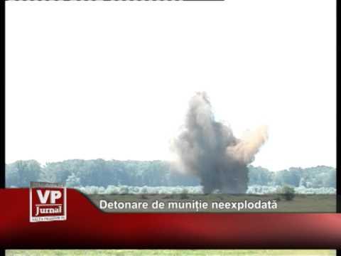 Detonare de munitie neexplodata
