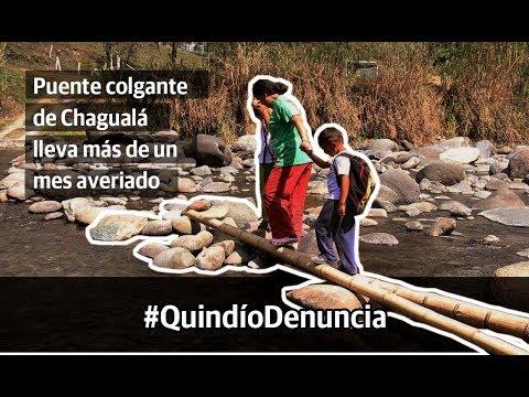 Puente colgante de Chagualá lleva más de un mes averiado