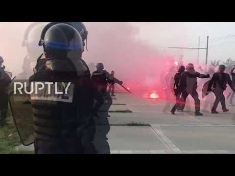 France: Atletico fans clash with police before Europa League final