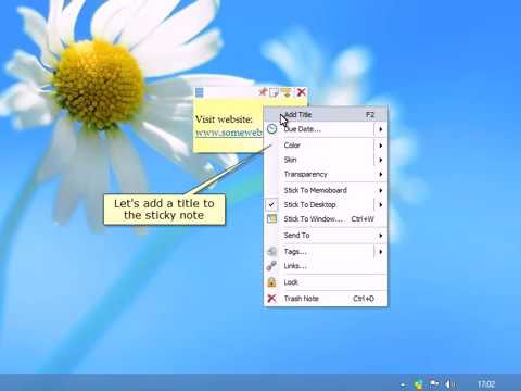 Creating desktop sticky notes