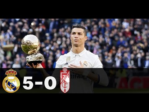 Real Madrid Vs Granada 5-0 All Goals & Full Highlights - La Liga - 07/01/2017