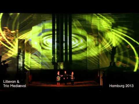 Fra St Katharinen kirke i Hamburg februar 2013, med videodesigner Lillevan.