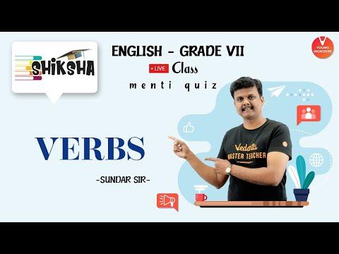 Verbs | Verbs In English Grammar | Class 6 NCERT | NCERT English Grammar | Young Wonders | Menti