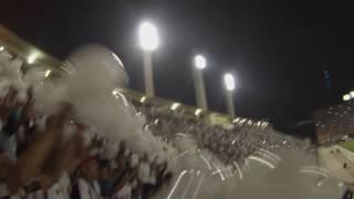 A festa da torcida do Santos no Pacaembu, em jogo válido pela Libertadores.#MaisJogosNoPacaembu