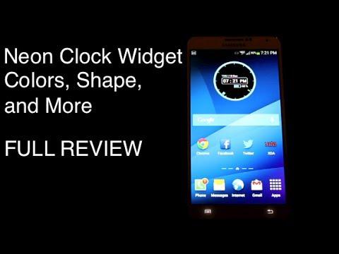 Video of Neon Clock Widget