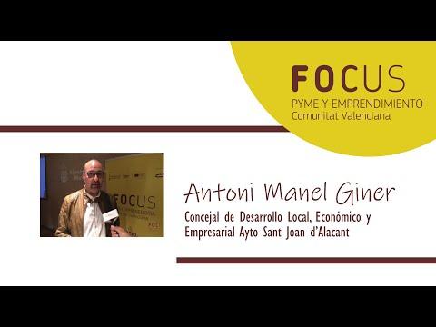 Entrevista Antoni Manel Giner en Focus Pyme y Emprendimiento L´Alacantí 2019