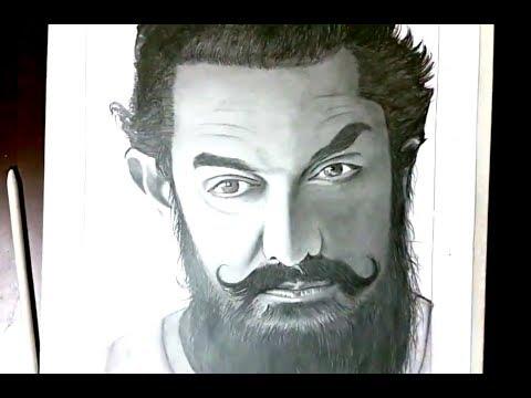 Beard styles - DRAWING AAMIR KHAN  BEARD STYLE