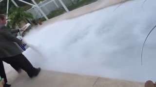 Dry Ice pellets into swimming pool in Florida