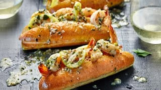 Shrimp Scampi Sub Sandwich Recipe by Chowhound