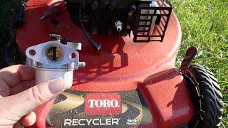 8. Toro Recycler Lawn Mower Model 20334 - DIY Carburetor Repair Not  Running Correctly - Nov. 11, 2016