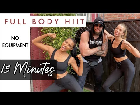 FULL BODY 15 MIN HIIT WORKOUT - NO EQUIPMENT