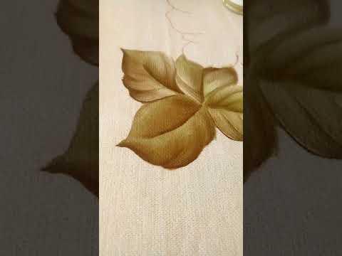 Como pinto folhas