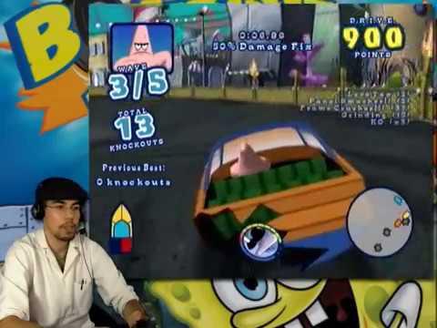 spongebob boating bash wii part 1