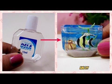 DIY Miniature Aquarium / Cách lam b? cá cho búp be / Ami DIY_Akvárium. Heti legjobbak