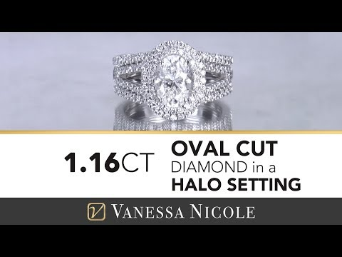 Oval Engagement Ring - Marcela's Double Halo Ring w/ Shadow Bands