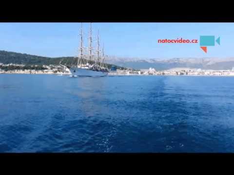 Odjezd z Splitu s nádherným doprovodem