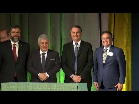 Brasilien / USA: Präsident Jair Bolsonaro zu Besuch ...