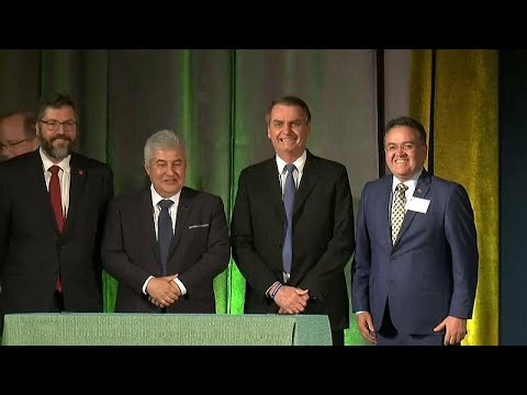 Brasilien / USA: Präsident Jair Bolsonaro zu Besuch i ...