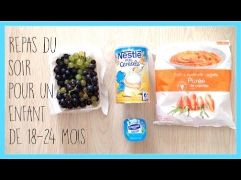 [tips] Repas du soir pour un enfant de 18 / 24 mois - Zaïna -