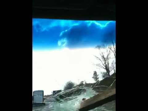 2x4 through my windshield...