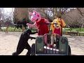 PEPPA PIG Y la PATRULLA CANINA SON MOLESTADAS por un BATMAN MALO / en la vida real