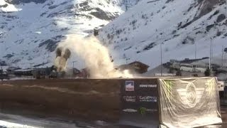 Guerlain Chicherit Jump for world record but crash - YouTube