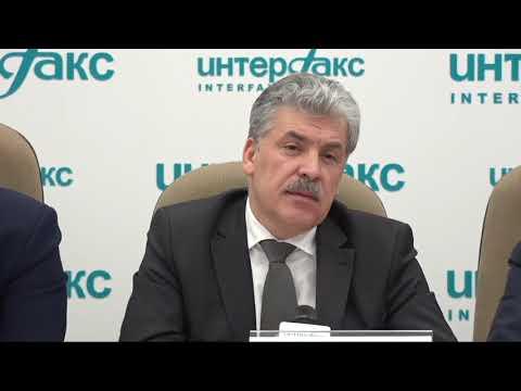 Павел Грудинин после выборов ответил на вопросы журналистов - DomaVideo.Ru