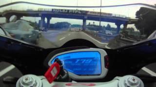 10. MV Agusta F4 2010 on Federal Highway rush hour!