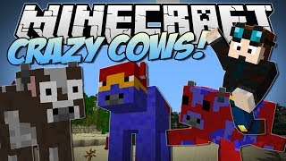 Minecraft | CRAZY COWS! (Flying Cows, Exploding Cows Ender Cows&More!) | Mod Showcase