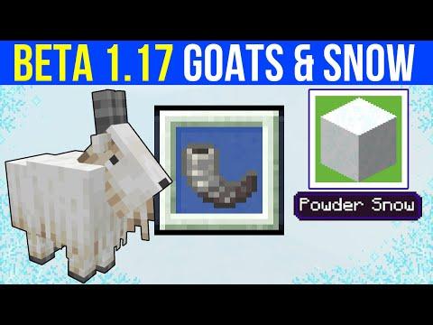 Minecraft Beta 1.17 : Mountain Goats & Powder Snow!