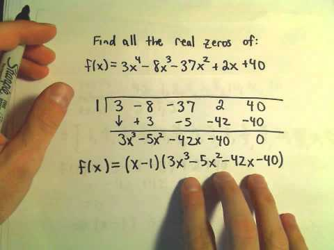 Finding all the Zeros of a Polynomial – Example 3