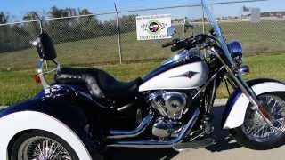 3. 2013 Lehman Storm / Kawasaki Vulcan 900 Classic LT Trike  Overview and Review   For Sale $19,599