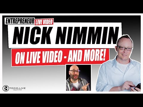YouTube Expert Nick Nimmin on YouTube Live and Much More!