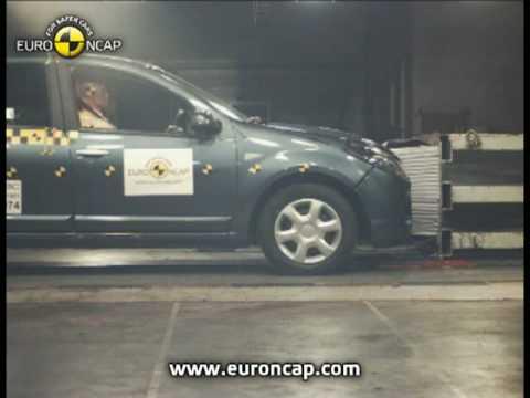 Sandero euroncap çarpışma / güvenlik testi videosu