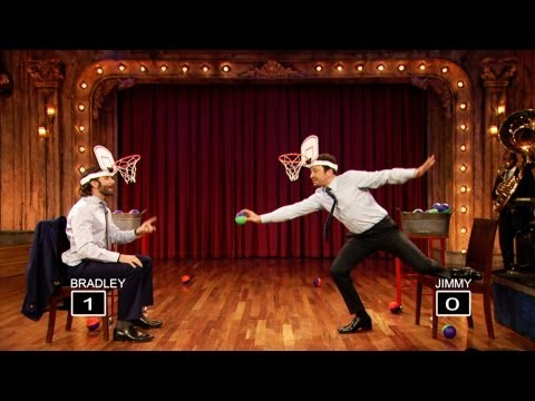 jimmy - Jimmy and Bradley slip mini basketball hoops on their heads and compete in a shootout. Subscribe NOW to Late Night with Jimmy Fallon: http://full.sc/IcjtXJ W...