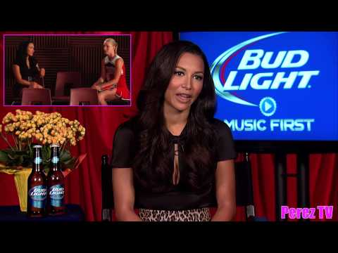 Heather Morris - So much Santana goodness!! The wonderful Naya Rivera recently graced us with an EXCLUSIVE PerezHilton.com interview as part of her promotional tour for Bud L...