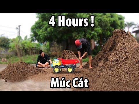 NTN - Thử Thách 4 Tiếng Xúc Cát Bằng Thìa (4H of shoveling sand by a spoon challenge) - Thời lượng: 4:03:10.
