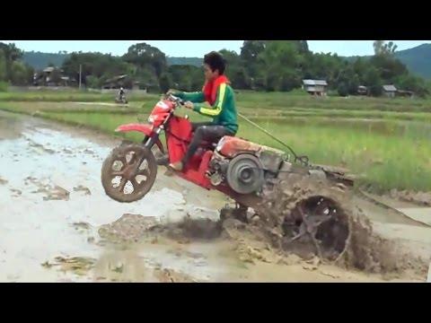 Xe đua chế thành máy cày cực lạ