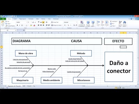 Video DIAGRAMA CAUSA-EFECTO EN EXCEL | DIAGRAMA DE PESCADO download in MP3, 3GP, MP4, WEBM, AVI, FLV January 2017