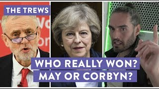 More election reaction in today's Trews. What went wrong for Theresa May and what's Jeremy Corbyn's secret? My new tour Re:Birth is coming to YOUR town - go to http://russellbrand.seetickets.com/tour/russell-brandListen to my new podcast Under The Skin here https://itunes.apple.com/au/podcast/under-the-skin-with-russell-brand/id1212064750?mt=2Subscribe to the Trews here: http://tinyurl.com/opragcgProduced & edited by Gareth RoyTrews Music by Tom Excell & Oliver CadmanTrews Graphic by Ger Carney