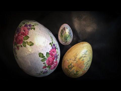 decoupage - come realizzare delle uova di pasqua