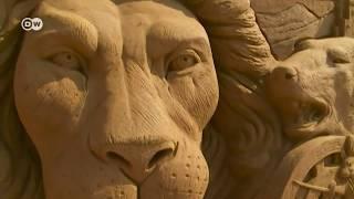 Festival de esculturas de areia na Bélgica