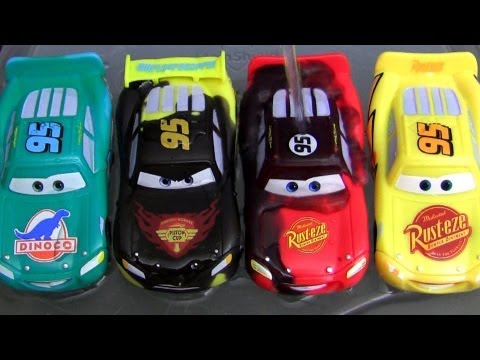 carro mcqueen - Here's the unboxing of FOUR packages from Disney Pixar cars and Cars 2 Color Changers shifters called Lightning Mcqueen rust-eze, Lightning Mcqueen Dinoco, T...