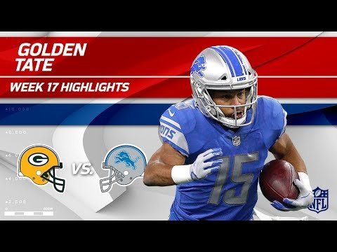 Video: Golden Tate's 7 Grabs, 104 Yards, 1 TD & 2 Pt. Toss! | Packers vs. Lions | Wk 17 Player Highlights