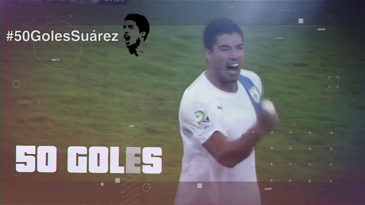 50 goles de Luis Suárez en la selección