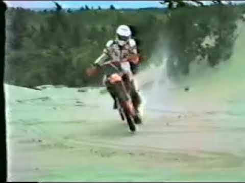 1984 old school CR125 motocross video