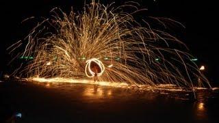 Koh Chang White Sand Beach Thailand  Fire Show Video