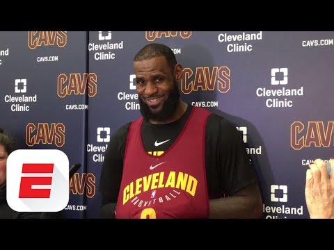LeBron James reacts to James Harden's crossover on Wesley Johnson | ESPN